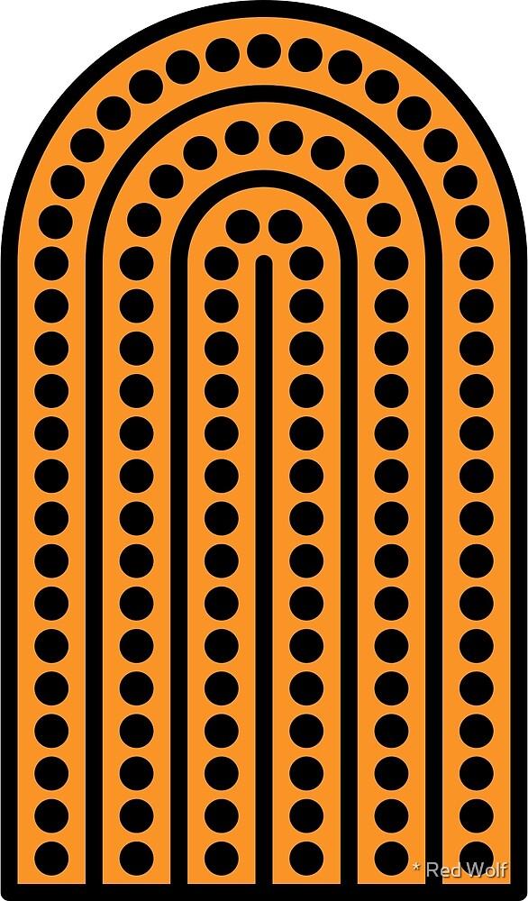 Geometric Pattern: Arch Dot: Black/Orange by * Red Wolf