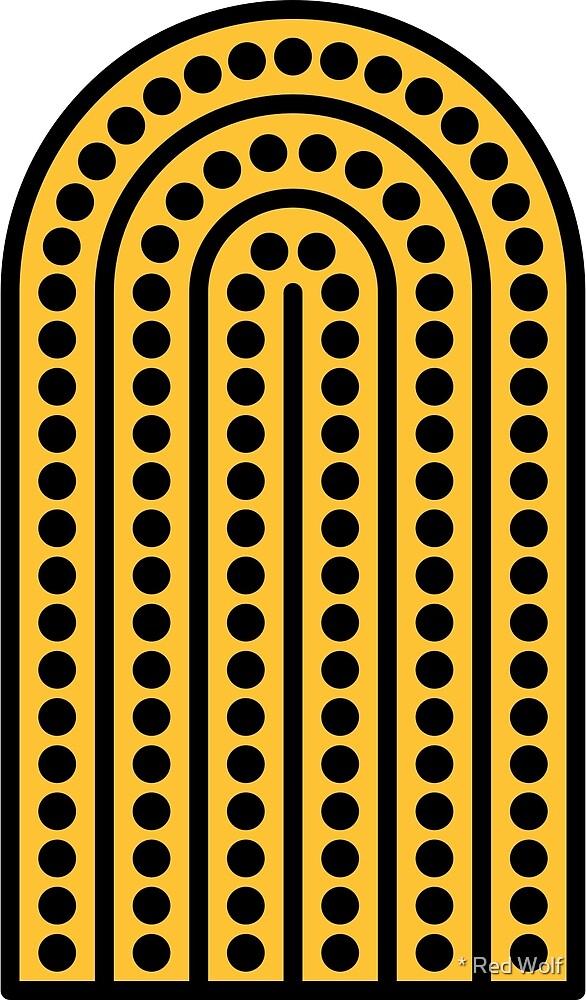 Geometric Pattern: Arch Dot: Black/Yellow by * Red Wolf