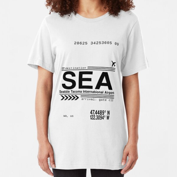 Seattle Tacoma International Airport Call Letters Slim Fit T-Shirt