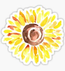 Watercolor Sunflower Sticker