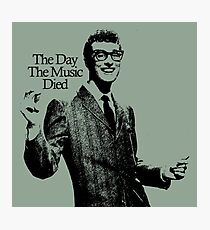 BUDDY HOLLY : THE DAY THE MUSIC DIED Photographic Print
