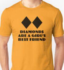 Diamanten sind der beste Freund eines Mädchens Unisex T-Shirt