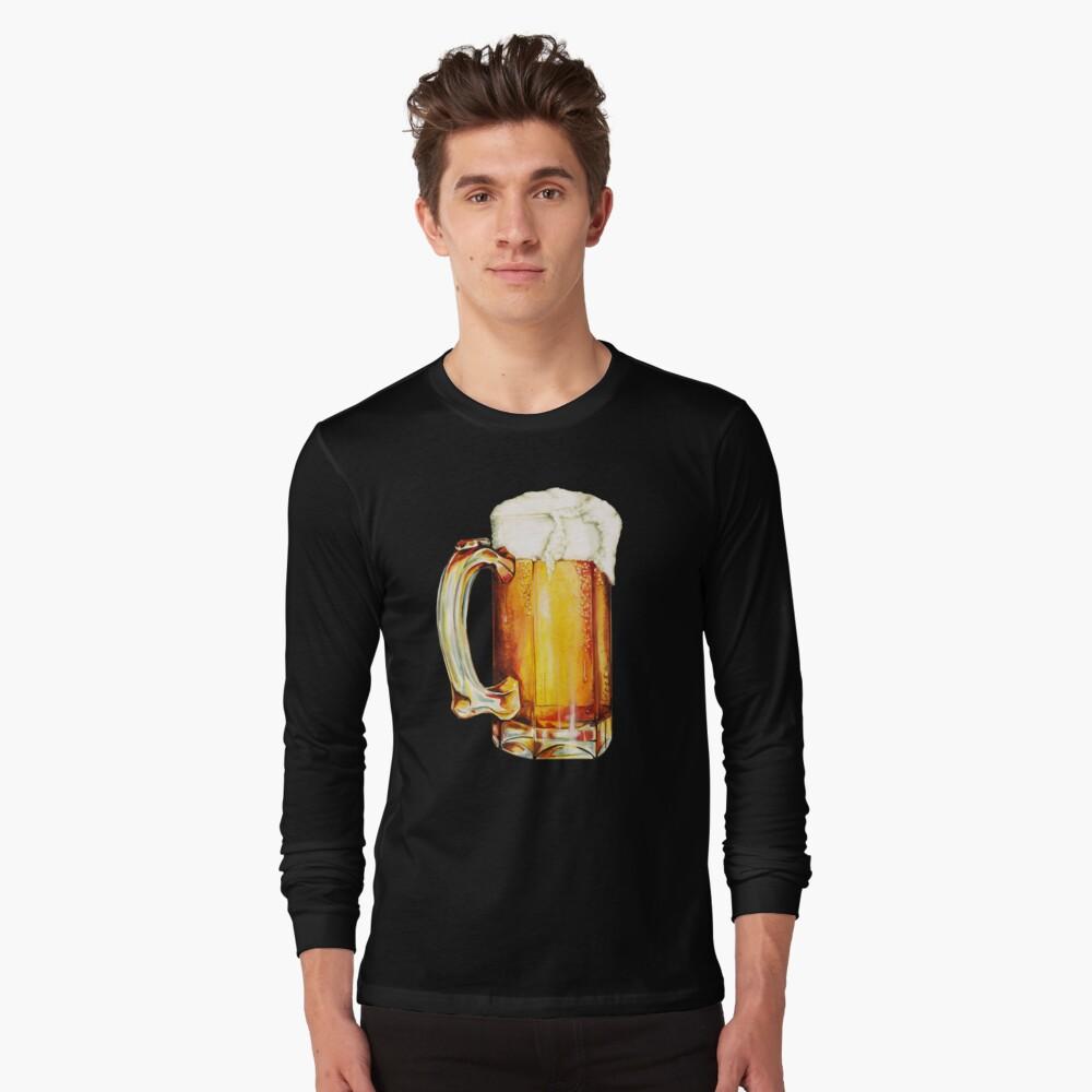 Bier Pattern Long Sleeve T-Shirt Front