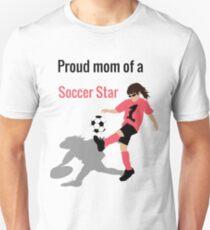 Fußball-Mädchen (Mutter) Slim Fit T-Shirt