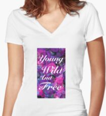 Young wild and free Women's Fitted V-Neck T-Shirt