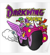 Darkwing Duck Motorcycle Poster
