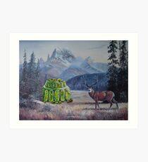 Boreal Jello Mold with Buck Art Print
