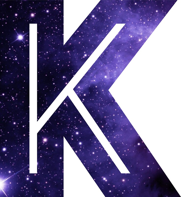 """The Letter K - Space"" Stickers by Mike Gallard 