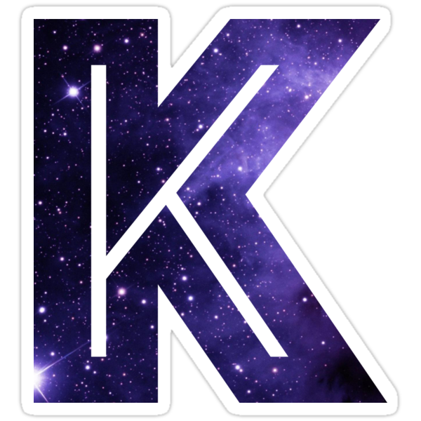 Quot The Letter K Space Quot Stickers By Mike Gallard Redbubble