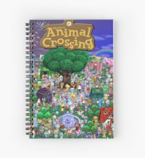 Animal Crossing Poster Spiral Notebook