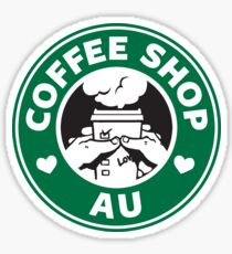 That Coffee Shop AU feeling Sticker
