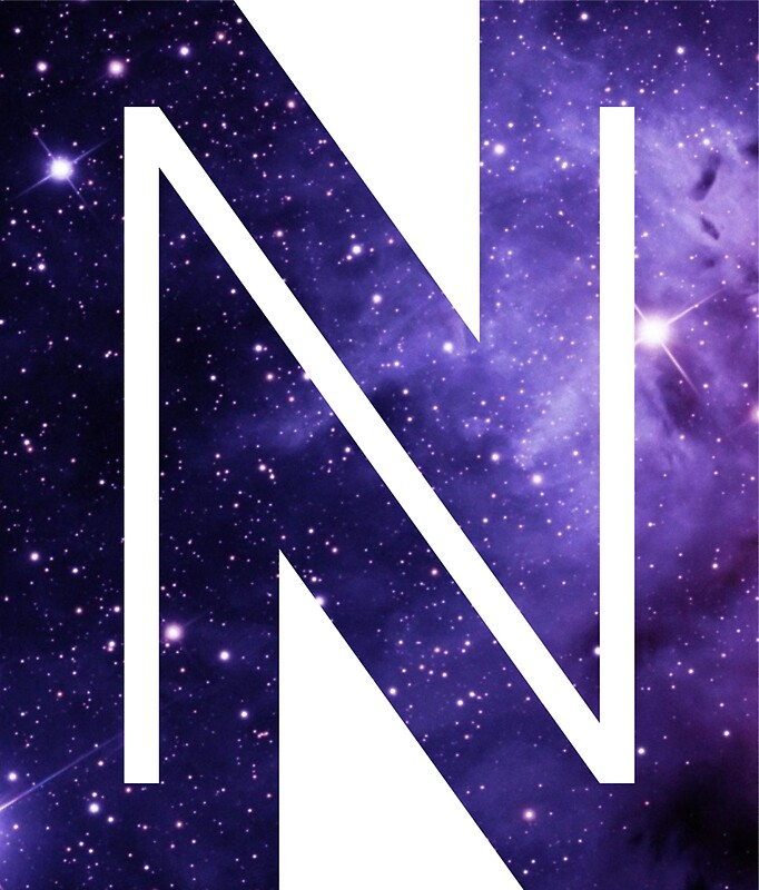 the letter n   space stickers by mike gallard redbubble