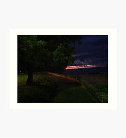 Na chwile przed wschodem słońca  na Balearach 09-2015. Andrzej Goszcz. Art Print