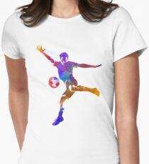 man soccer football player 14 Womens Fitted T-Shirt