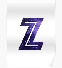 The Letter Z - Space Poster