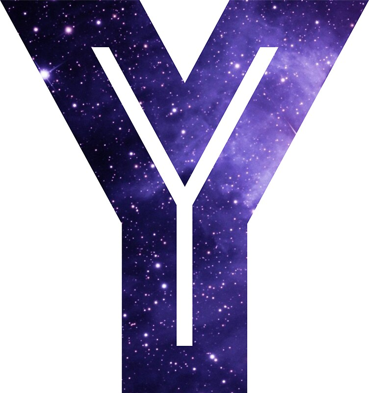 """The Letter Y - Space"" Stickers by Mike Gallard 