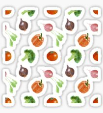 Watercolor vegetables party Sticker