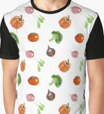 Watercolor vegetables party Graphic T-Shirt