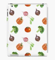 Watercolor vegetables party iPad Case/Skin