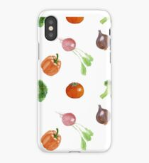 Watercolor vegetables party iPhone Case/Skin