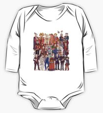 The party doesn't start until the Doctor walks in...twelve times Long Sleeve Baby One-Piece