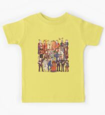The party doesn't start until the Doctor walks in...twelve times Kids Tee