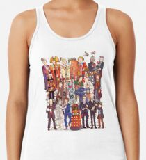 The party doesn't start until the Doctor walks in...twelve times Racerback Tank Top