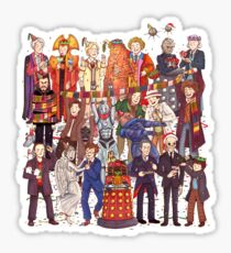The party doesn't start until the Doctor walks in...twelve times Sticker