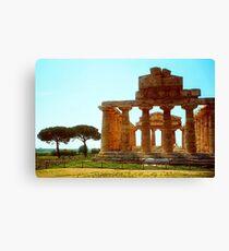 Italy - Greek temple at Paestum Canvas Print