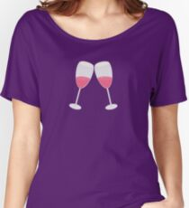 champagne glasses  Women's Relaxed Fit T-Shirt