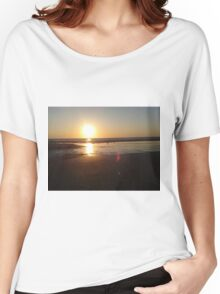 Seagulls at sunset beach Women's Relaxed Fit T-Shirt