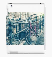 Amsterdam canal and bicycles iPad Case/Skin