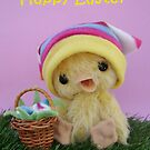 Easter card, Handmade bears from Teddy Bear Orphans - Deidra Duckling by Penny Bonser