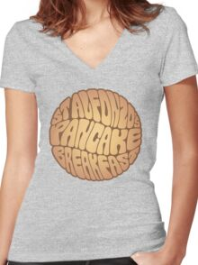 St. Alfonzo's Pancake Breakfast Women's Fitted V-Neck T-Shirt