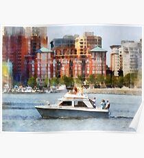 Maryland - Cabin Cruiser by Baltimore Skyline Poster