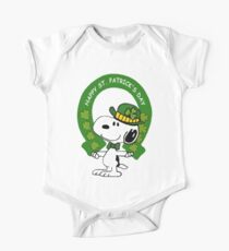 Snoopy Happy St Patricks Day One Piece - Short Sleeve