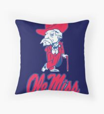 Ole Miss Mississippi Throw Pillow