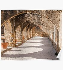 Shadows in the San Jose Mission Convento Poster