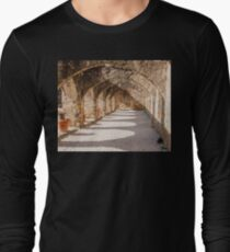 Shadows in the San Jose Mission Convento Long Sleeve T-Shirt