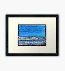 Peau de Mer • Sea's Skin • Piel de Mar Framed Print