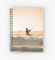 Riding Wind & Waves of Sunset Spiral Notebook