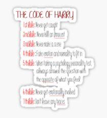 Dexter-The code of Harry Sticker