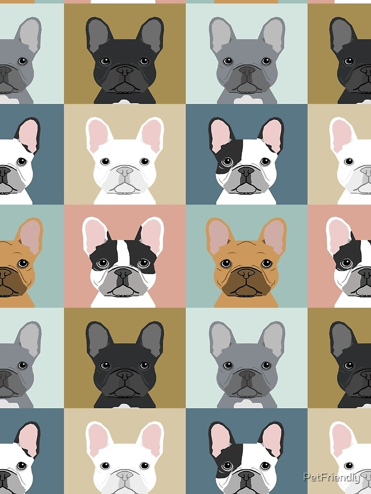 French Bulldog portraits pattern dog person gift love animal pet puppy frenchie bulldog valentines by PetFriendly
