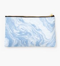 Ryoko - spilled ink abstract painting marble marbled paper art minimal swirl modern water ocean wave Studio Pouch