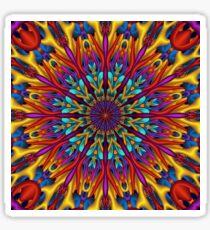 Amazing colors 3D mandala Sticker