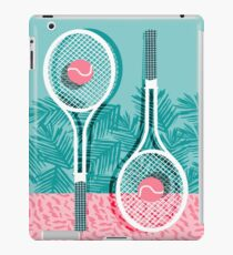 Good to go - memphis throwback 1980s neon pastel abstract sports tennis racquetball athlete game iPad Case/Skin