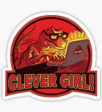 Clever Girl Velociraptor Dinosaur Humor Sticker