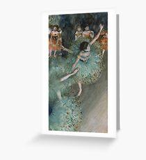 Edgar Degas - Swaying Dancer. Degas- Dancer in Green ,  show, ballet, dancers, ballerina, ballet dancer, dance, impressionism, music, opera, tutu , dress, beauty, love, girls, party Greeting Card