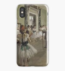 Edgar Degas - The Ballet Class ,Impressionism  ballerina dancer iPhone Case/Skin