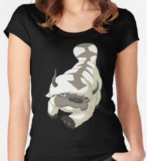 APPA SKY BISON Japanese Anime, Flying, The Last Airbender Avatar Women's Fitted Scoop T-Shirt